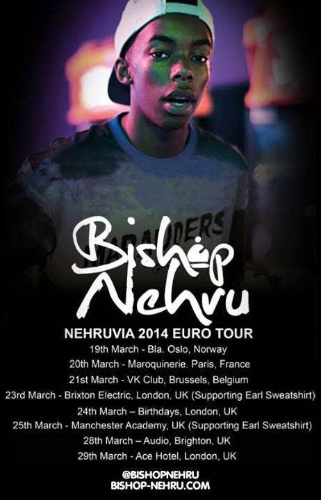 Bishop Nehru tour dates