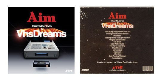 Aim Drum Machines and VHS Dreams album