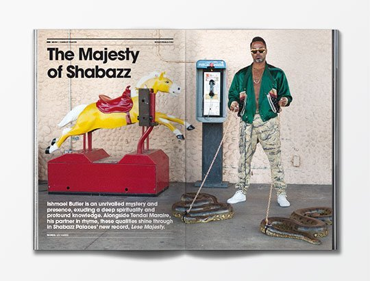 Shabazz Palaces interview with Bonafide magazine issue 09