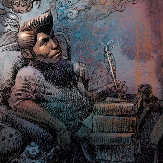 Dan Lish Ego Strip hip-hop illustrations
