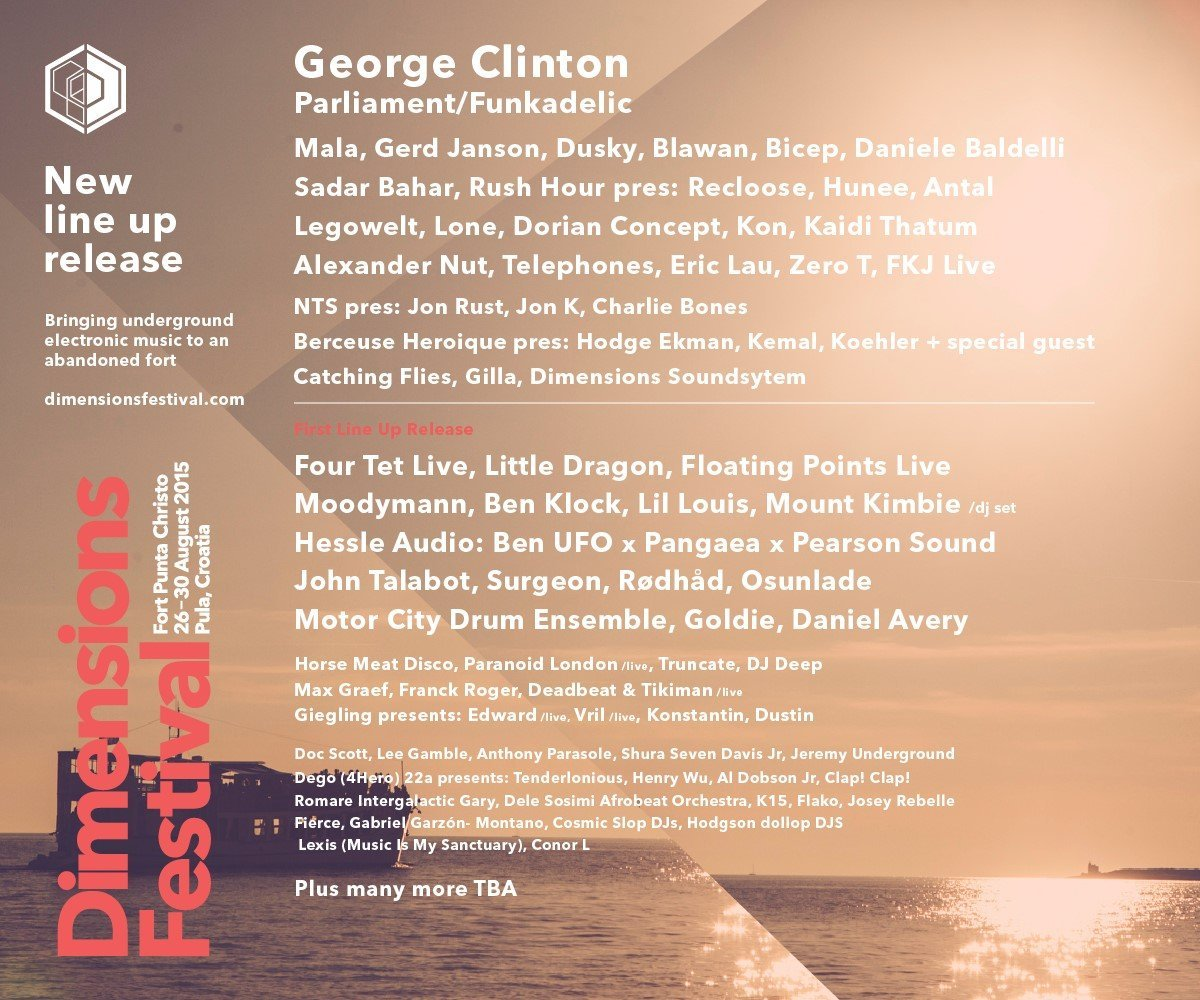 Dimensions Festival 2015 - new names released - flyer