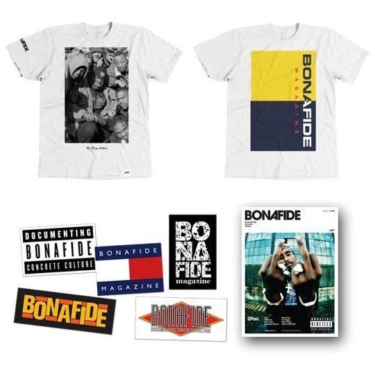 Ltd ed. Bonafide magazine '90s' tees bundle