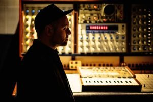 DJ Shadow photographed by Siofra McComb at his studio in California.